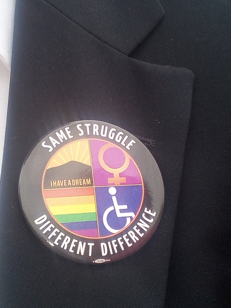Button: same struggle, different difference
